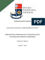 Inicializacion Generador Eólico