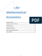 Basic Mathematical Economics