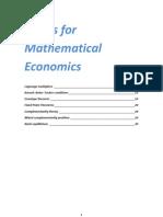 Basic Mathematical Economics