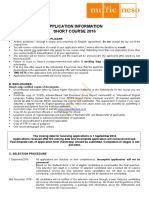 Application Form for StuNed Short Course 2016