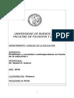 Seminario Corrientes contemporaneas en Educación