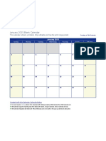 Excel 2015 Calendar
