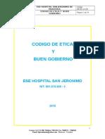 Codigo de Etica y Buen Gobierno Hospital San Jeronimo