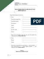 Contoh Surat Perjanjian Karyawan Perusahaan FH UII