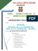 Informe de Calidad INFORME DE CALIDAD DE AIREAire-trabajo