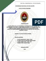 La Influencia de los docentes y Estudiantes de 5ª grado de Secundaria asi como la implementación de la Jornada Escolar Completa en el Desarrollo Educativo de la Institución Independencia Americana del distrito de Pallpata-Espinar-Cusco
