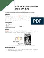Diacetyl Tartaric Acid Ester of Mono