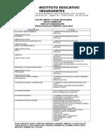 Lista Utiles Semestres Pares 2015