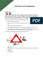 Pengenalan APAR Dan Cara Penggunaan APAR