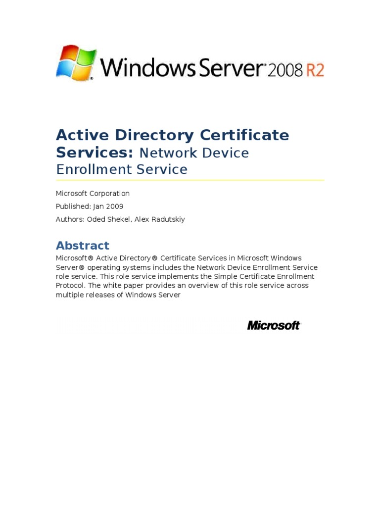 Microsoft Scep Implementation Whitepaper Public Key Certificate