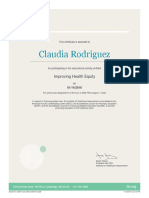 ihi certificate - improving health equity