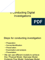 Conducting Digital Evidence