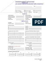 Water Cooled Package (WCPS) Start-up Form
