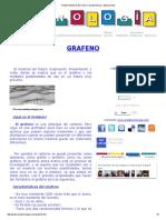 Grafeno Material Del Futuro Caracteristicas y Aplicaciones