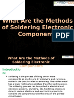 What Are the Methods of Soldering Electronic Components