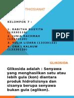GLIKOSIDA ISOTHIOSIANAT