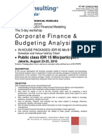Financial Modeling Training 3 Days 23-25 August 2016