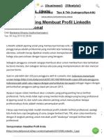 8 Langkah Penting Membuat Profil LinkedIn Terlihat Profesional