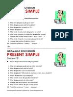 Atg Discussion Present Simple