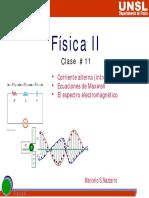 Clase XI Introducción a corriente alterna.Ecuaciones de Maxwell. Espectro electromagnético.pdf