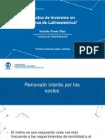 2. Costos de Inversión en Metros Latinomaricanos Metro de Santiago1