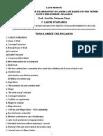 Labor Law  C-Labor Standards