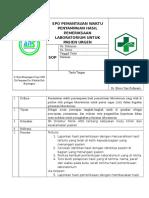Spo Pemantauan Waktu Penyampaian Hasil Pemeriksaan Laborat Untuk Pasien Urgent