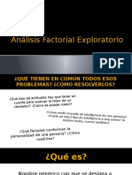 Análisis Factorial Exploratorio