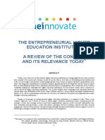 The Entrepreneurial Higher Education Institution a Review-Heinnovate