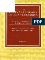 Tattvasangraha of Santaraksita With Kamalasila Com. G Jha Vol I 1937