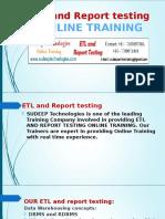 ETL Testing online training in hyderabad