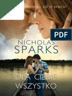 Dla Ciebie wszystko - Nicholas Sparks.pdf