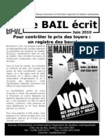 BAIL écrit juin 2010