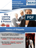 why Learning Etiquette