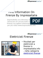 Find Information on Firenze by Impresaitalia