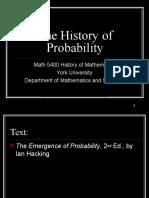 Probability History