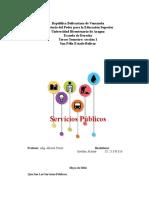 Los Servicios Publicos Estefani Alchaar