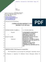 07-26-2016 ECF 614 USA v RYAN PAYNE - USA Opposition to Ryan Payne Emergency Motion to Reconsider