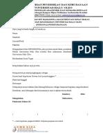 Format Surat UHO