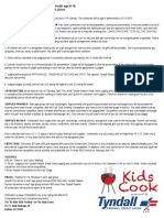 2015 Kids Cook Rules