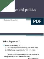 organisational Power and Politics