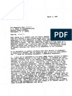 Warren Buffet's 1982 letter to John Dingell warning about derivatives