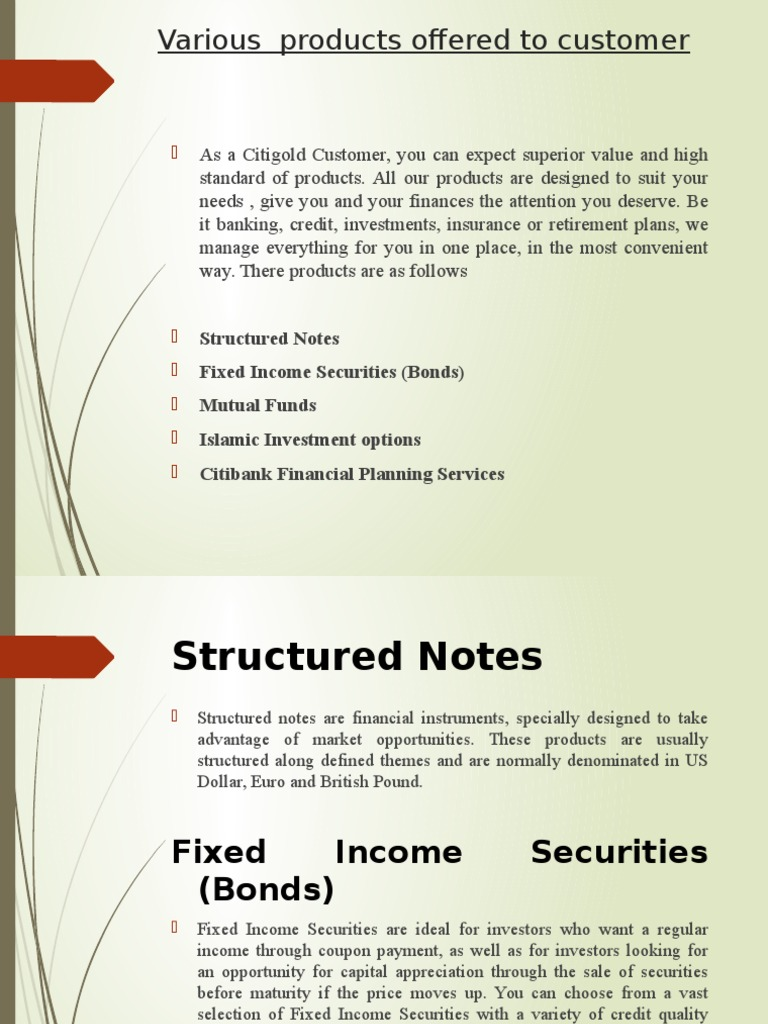 citibank | mutual funds | fixed income