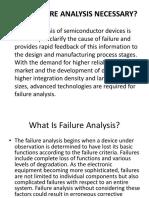 Why Failure Analysis Necessary