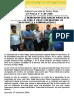 Nota de Prensa 2016 - 189