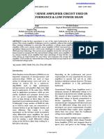 ANALYSIS OF SENSE AMPLIFIER CIRCUIT USED IN HIGH PERFORMANCE & LOW POWER SRAM