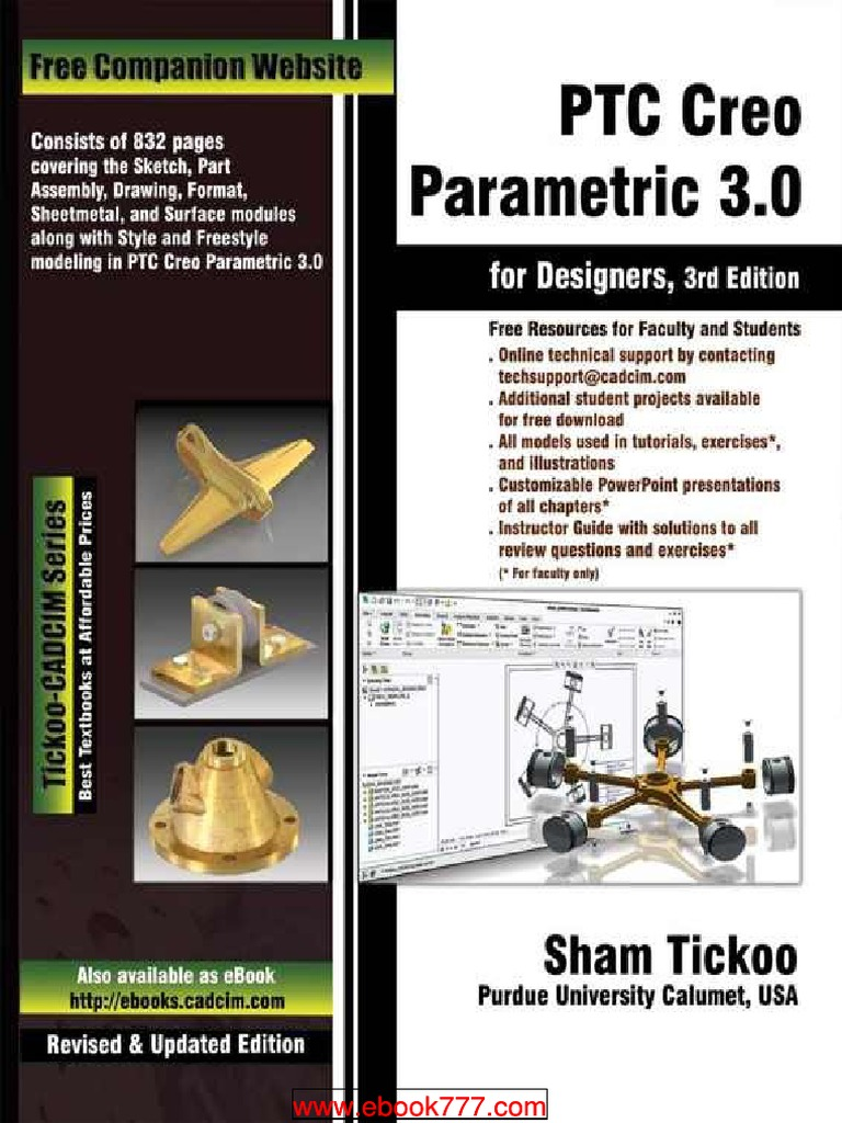 Ptc Creo Parametric 30 For Des  Prof Sham Tickoo Purdue University   Autodesk  Directory (computing)