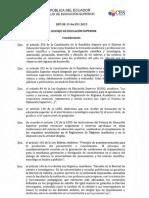Codificado Del Reglamento de Regimen Academico