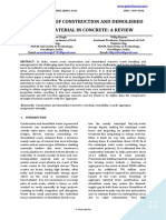 UTILIZATION OF CONSTRUCTION AND DEMOLISHED WASTE MATERIAL IN CONCRETE