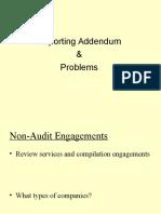Reporting Addendum